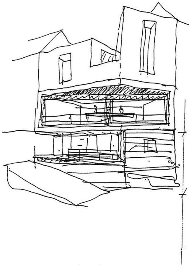 Die Zeichnung Ist Chipperfields Skizze Fur Das Haus