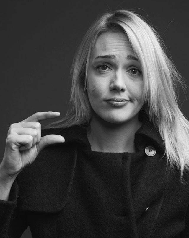 Alwara Höfels Gesicht
