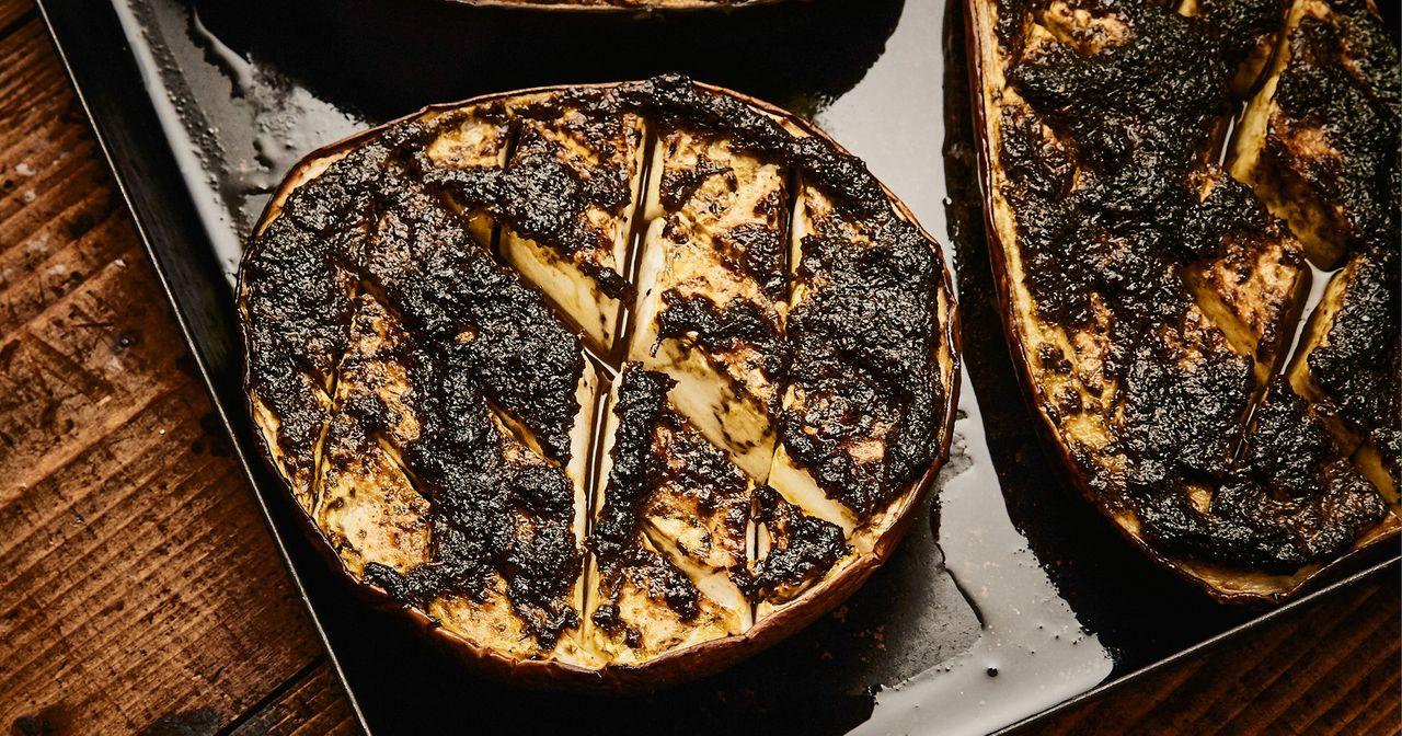 Kochrezept: Marinierte Aubergine aus dem Ofen